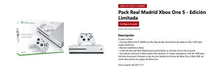 Xbox One S Real Madrid Tienda