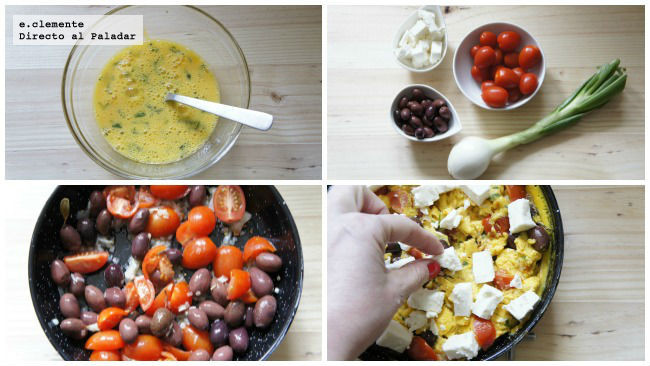 Sartén de ensalada griega