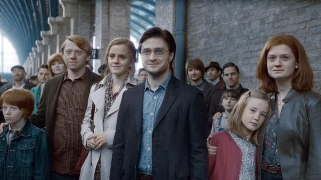 Una escena del final de Harry Potter