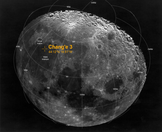Change 3 Lunar Landing Site