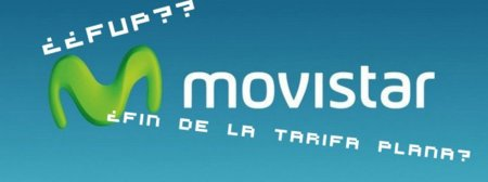 Sobre el fin de la tarifa plana, Movistar y el FUP