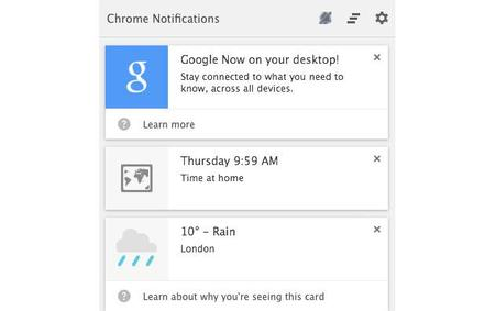 Google Now en OS X y Windows ya es posible con Canary