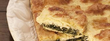 Costrada de espinacas y queso feta, receta fácil con Thermomix