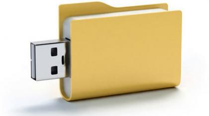 Memoria USB con forma de carpeta