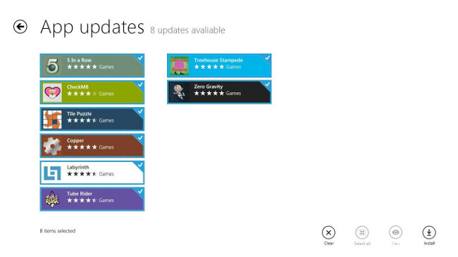 Actualizar aplicaciones en Windows Store