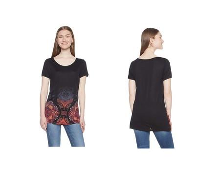 La camiseta Desigual Leonor está rebajada a 14,98 euros en varias talla en Amazon