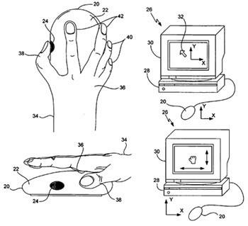 Nuevas patentes de Apple: teclado con click-wheel y ratón táctil