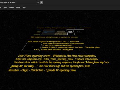 Con este huevo de pascua verás los resultados de tus búsquedas en Google al estilo Star Wars