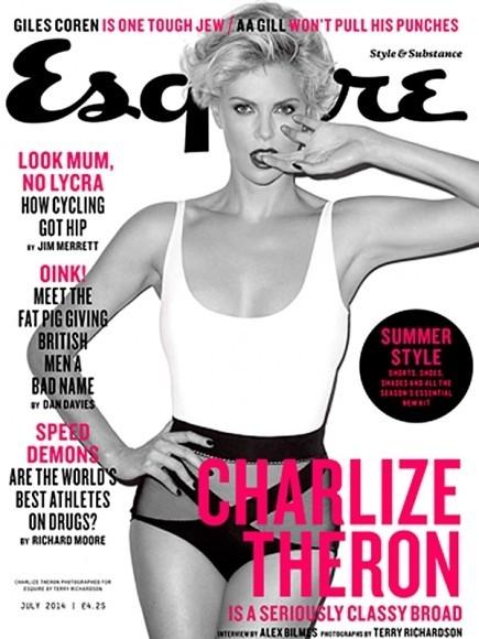 La malvada Charlize Theron sigue tan lozana como siempre en Esquire