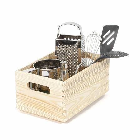 caja de madera de pino para ordenar