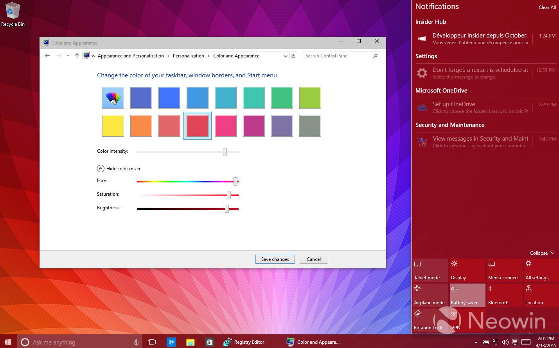 Foto de Temas de colores en Windows 10 build 10056 (11/16)