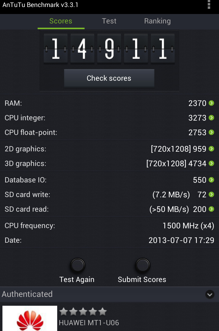 Benchmarks Mate