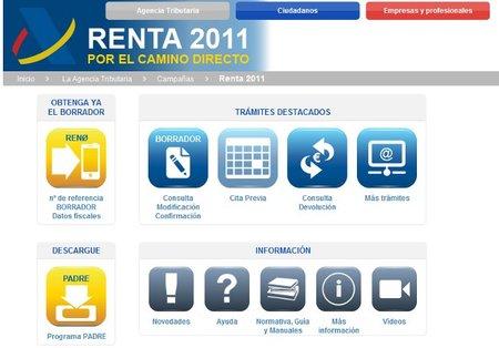 Disponible el borrador de IRPF y el programa PADRE para la RENTA 2011