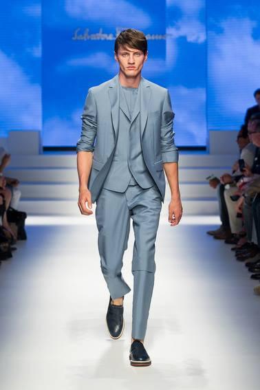 Salvatore Ferragamo Blue Suit