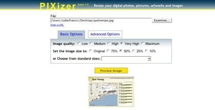 PIXizer, otra herramienta online para el redimensionado de imágenes