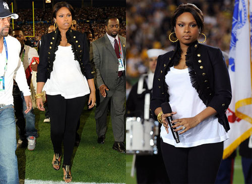 Jennifer Hudson en el Super Bowl