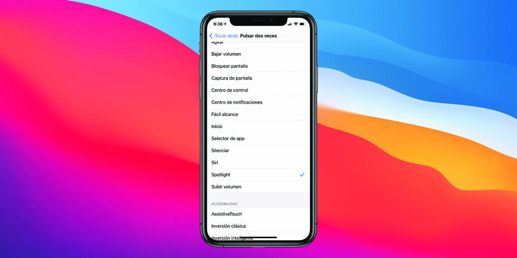 Cómo configurar la función Tocar atrás de iOS 14 para realizar acciones en nuestro iPhone con un toque en su parte trasera