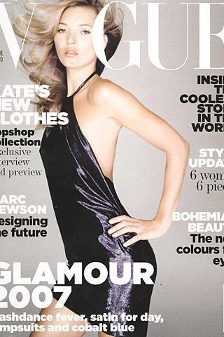 Kate Moss habla para Vogue