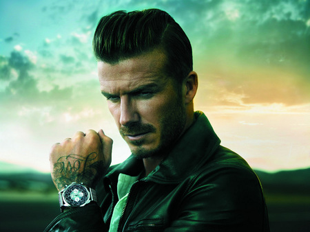 David Beckham nos da la hora con Breitling