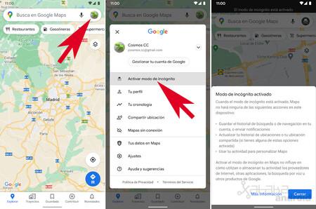Google Maps Incógnito