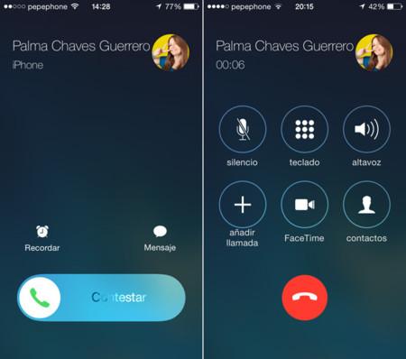 Llamadas iOS 7