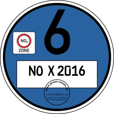 Blaue Plakette No X 2016