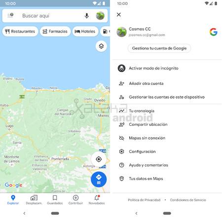 Maps Nueva Interfaz
