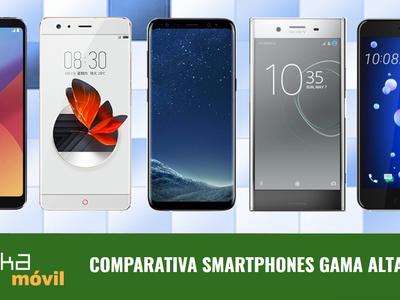 Comparativa smartphones gama alta en junio de 2017: los más potentes, innovadores y con mejor cámara