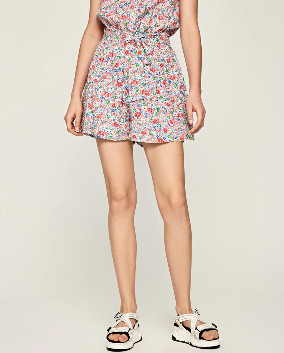 Falda pantalón de flores de Pepe Jeans