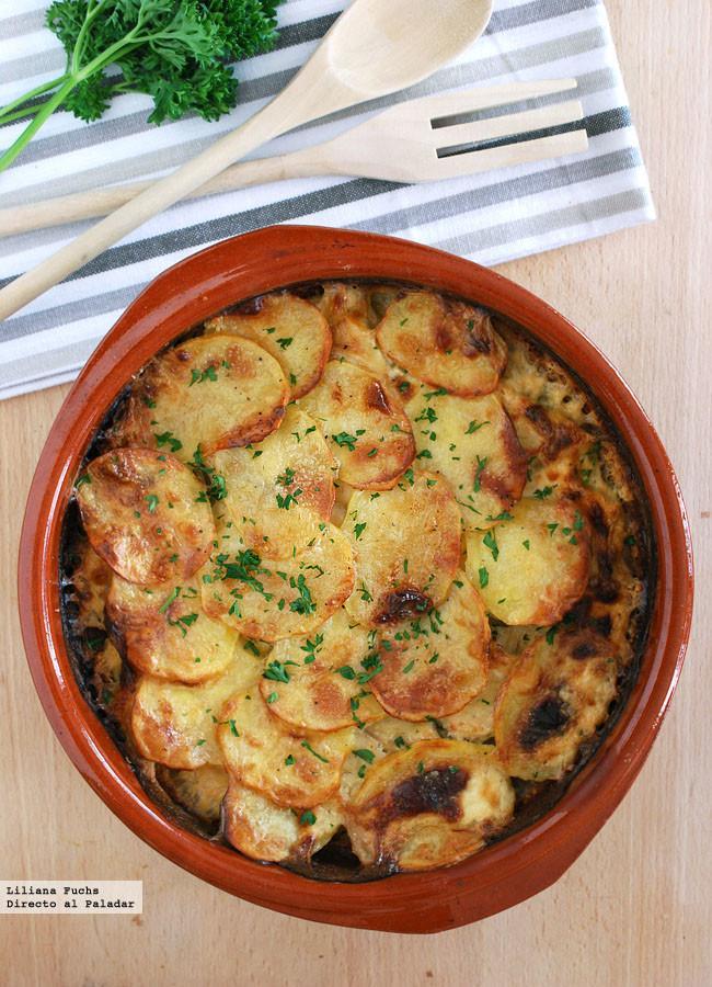 Gratinado de rodaballo con patatas receta - Gratinado de patata ...