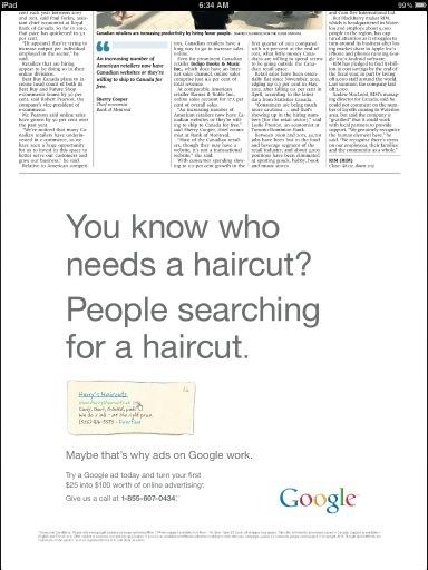 Google se anuncia en prensa para demostrar que anunciarse en prensa no funciona