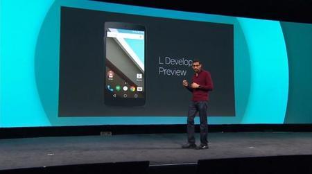 """La próxima versión de Android, """"L"""", tiene un nuevo aspecto"""