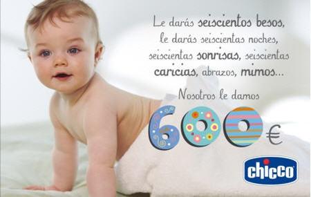 Chicco ayuda a las familias que esperan un bebé con ¡600 euros!