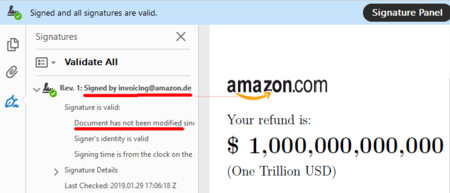Amazon Refund Signed Screenshot