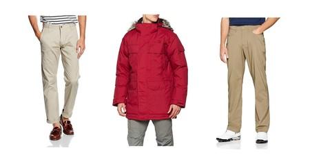 Chollos en tallas sueltas de pantalones, camisetas y abrigos de marcas como The North Face, Dockers o Jack & Jones en Amazon