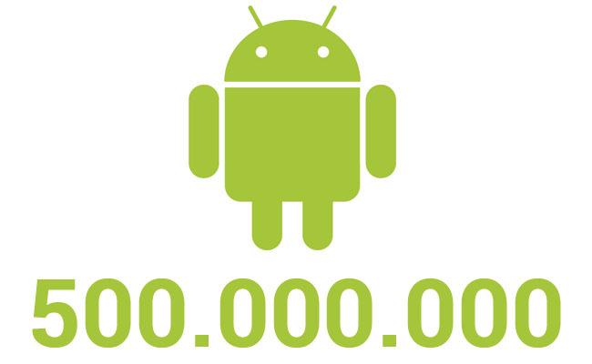 Android supera los 500 millones de activaciones