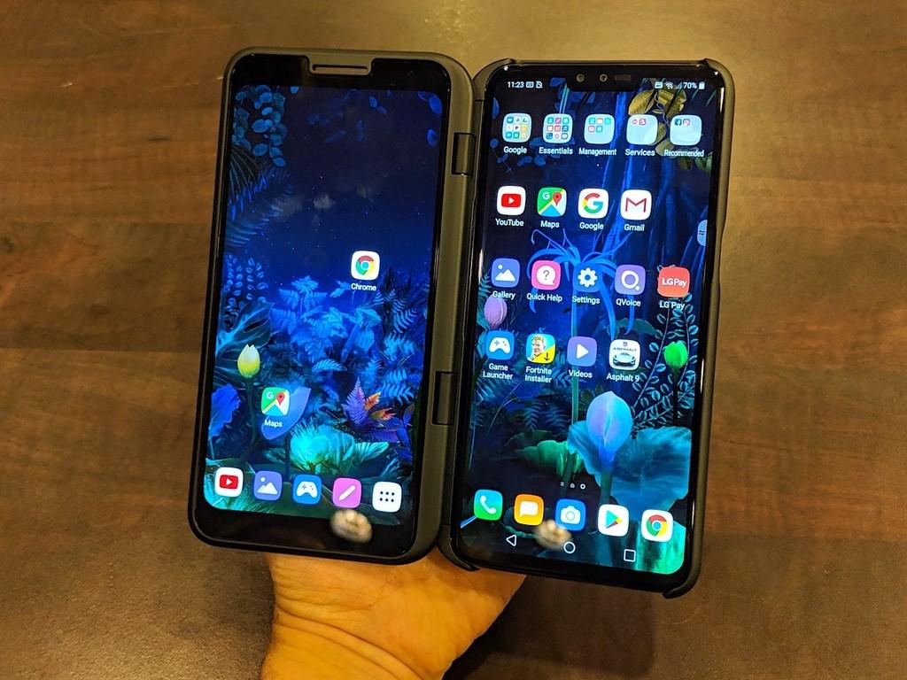 LG V50 ThinQ 5G, primeras impresiones: en este estado la doble pantalla lo posee dificultoso para luchar contra los móviles flexibles