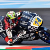 Tony Arbolino aprovecha la incertidumbre del agua en Termas para firmar su primera pole de Moto3