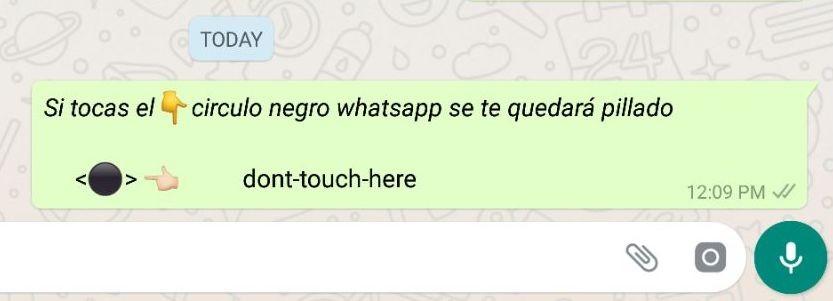 Circulo Negro De Whatsapp