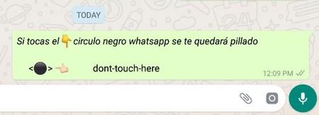 Cómo funciona el círculo negro de WhatsApp y por qué bloquea misteriosamente la aplicación al tocarlo