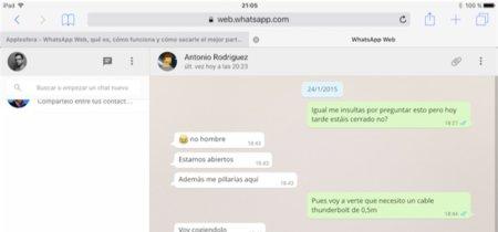 Ejecutar WhatsApp Web en tu iPad es posible y muy sencillo