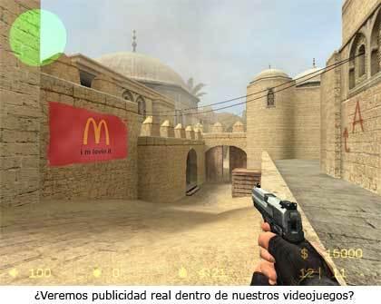 Publicidad dentro de Counter Strike