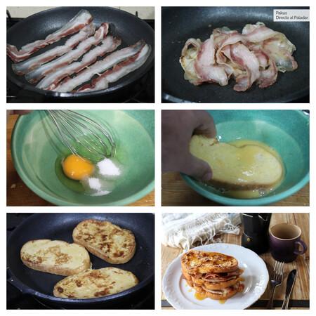 Tostadas Francesas Bacon Collage 1