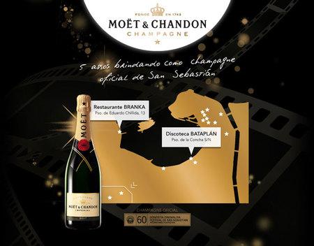 Una nueva Moët&Chandon Golden Jeroboam para el Festival de cine de San Sebastián 2012