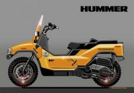 ¿Cómo sería una scooter de Hummer?