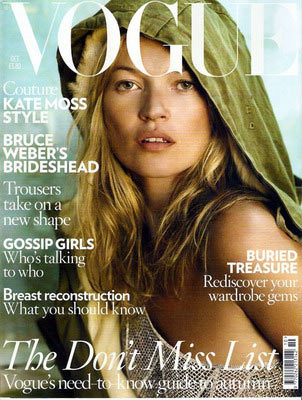Kate Moss en Vogue UK