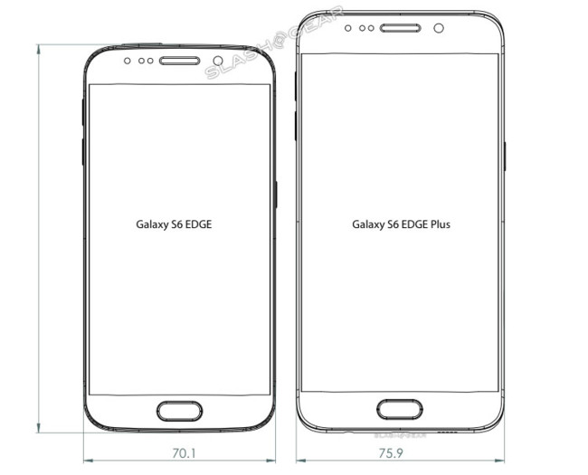 Galaxy S6 Edge Plus Diagrams Front