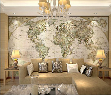 17 papeles pintados con mapa del mundo for Room design map