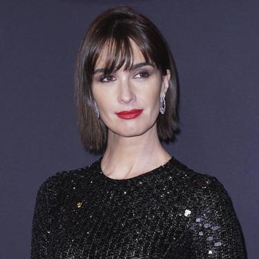 Paz Vega conquista Nueva York con un vestidazo negro de Armani repleto de lentejuelas en el estreno de Rambo