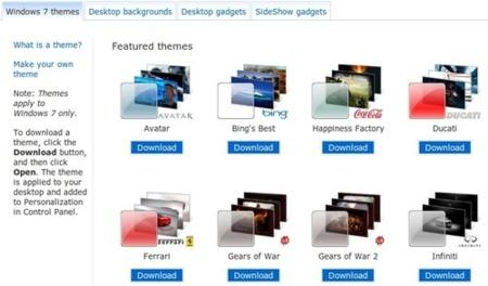 Nuevos temas para Windows 7